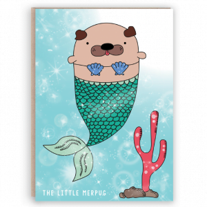 merpug mermaid card