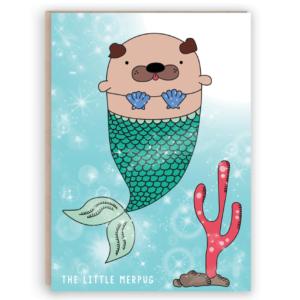 merpug mermaid card