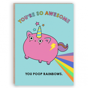 unicat unicorn poop card