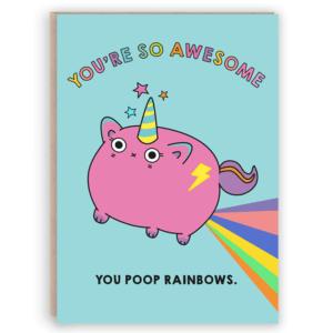 unicat unicorn poop card