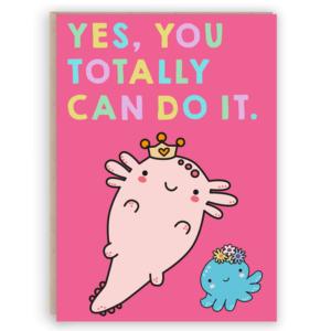 princess Axoltl motivational card