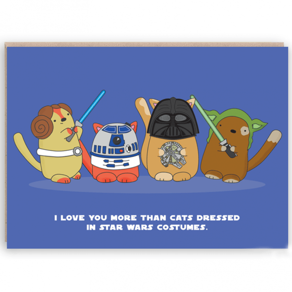 star paws cat card