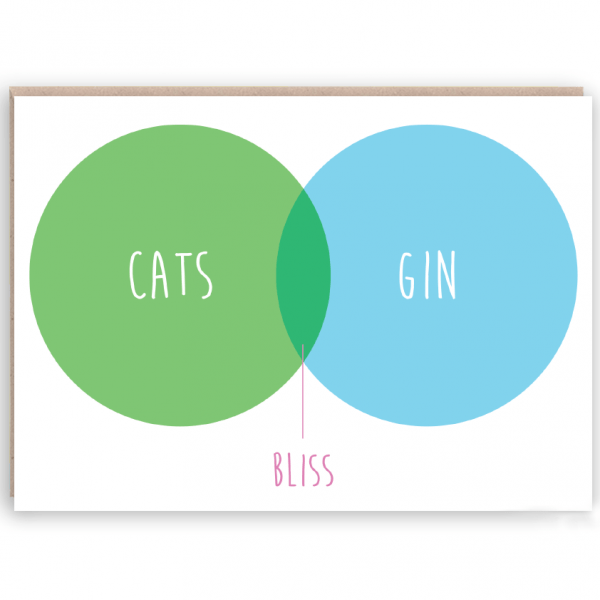 cats and gin card
