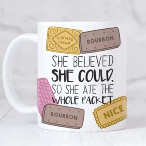 She persisted feminist mug