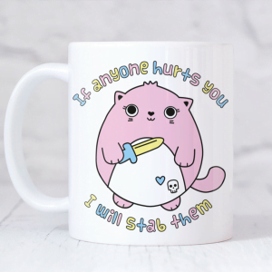 funny cute cat kawaii mug