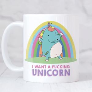 Funny unicorn mug