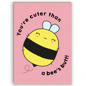 cute bee card