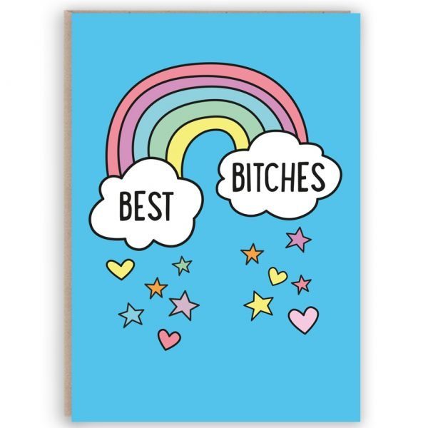 best Bitches funny best friend card