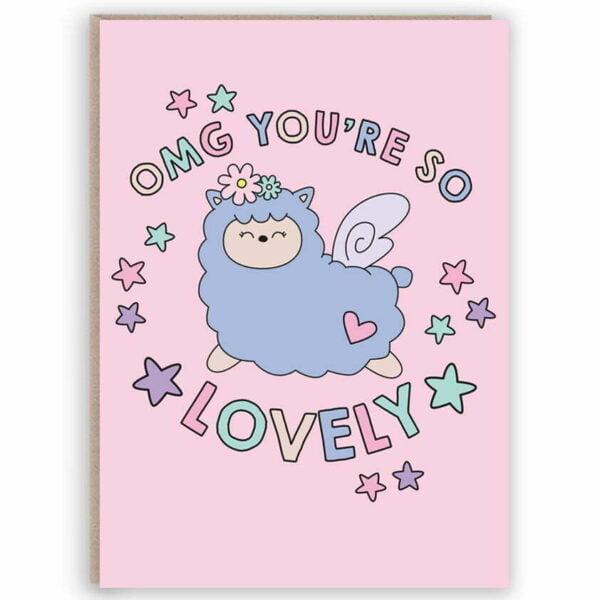 funny llama card