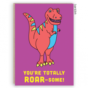 funny dinosaur card roar