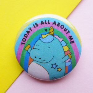unicorn birthday badge