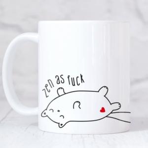 Zen Af cat funny yoga mug