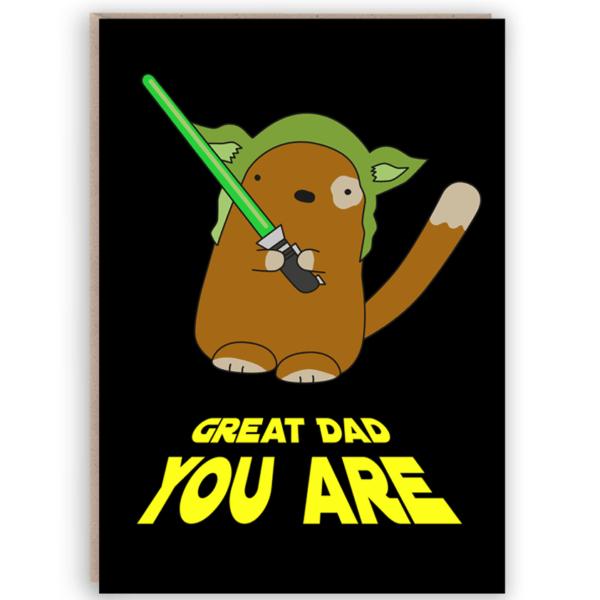 yoda funny star wars fathers day card
