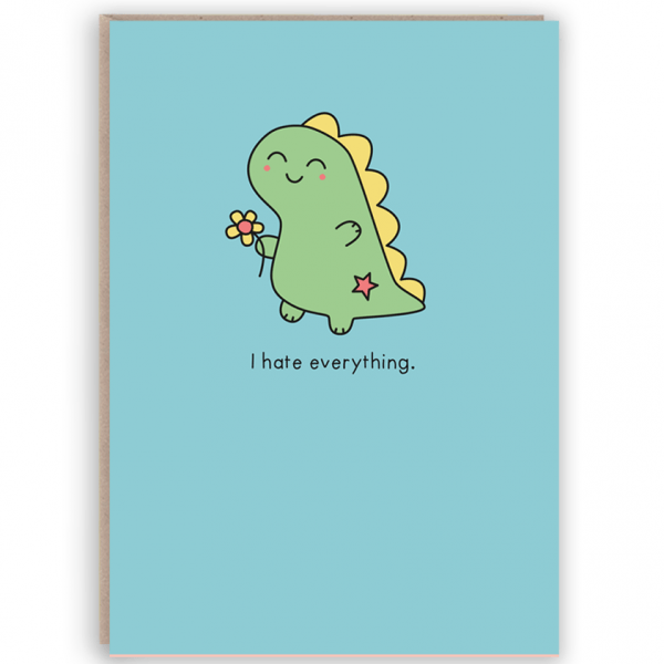 funny dinosaur card