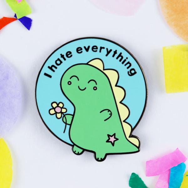 cute dinosaur funny enamel pin