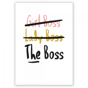 girl boss postcard