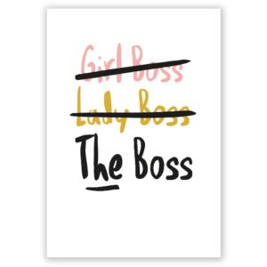 girl boss postcard