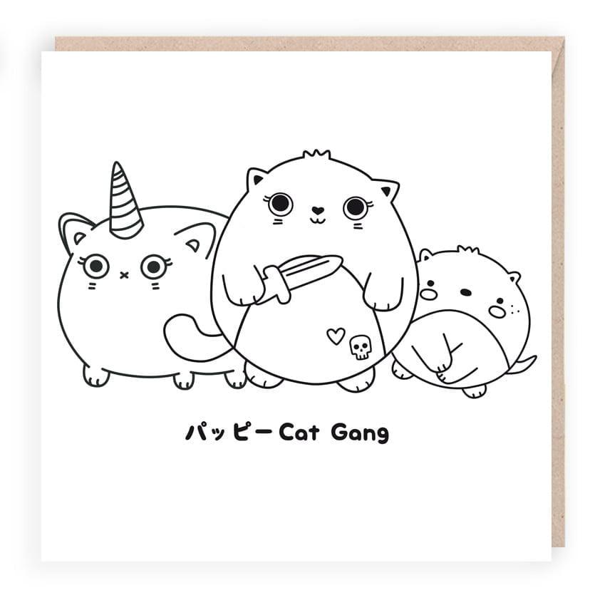 6be125dc50b Happy Cat Gang Card – Sugar   Sloth