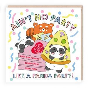 panda party funny birthday card