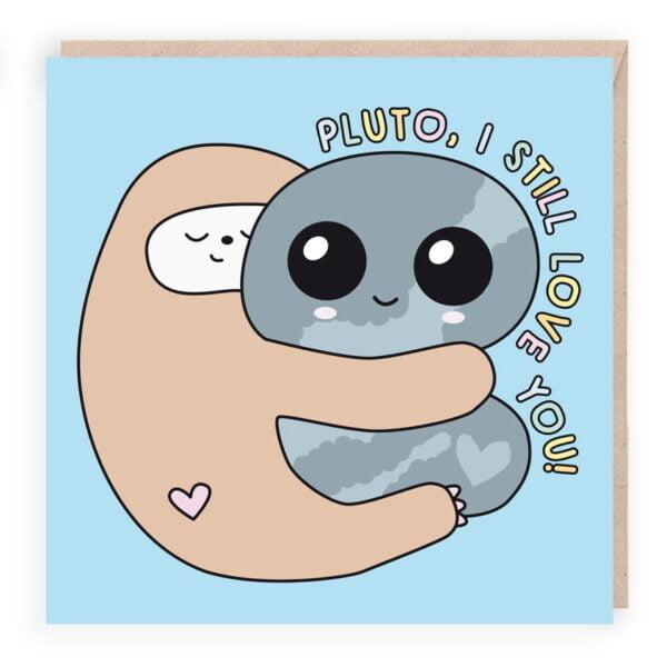 sloth cute birthday card