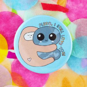 Space sloth button badge