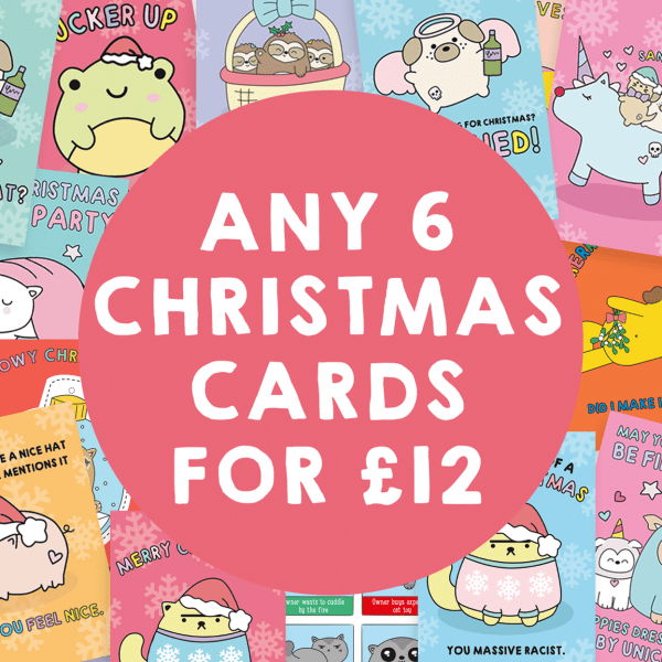 6 for 12 cute christmas cards