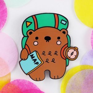 Adventure Bear Hard enamel pin