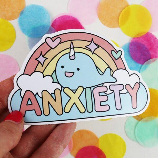 rainbow anxiety sticker