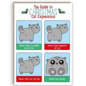cute cat christmas card