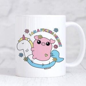i am a fucking delight funny mug