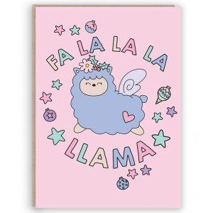 funny llama christmas card