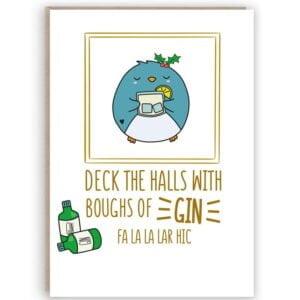 funny gin christmas card