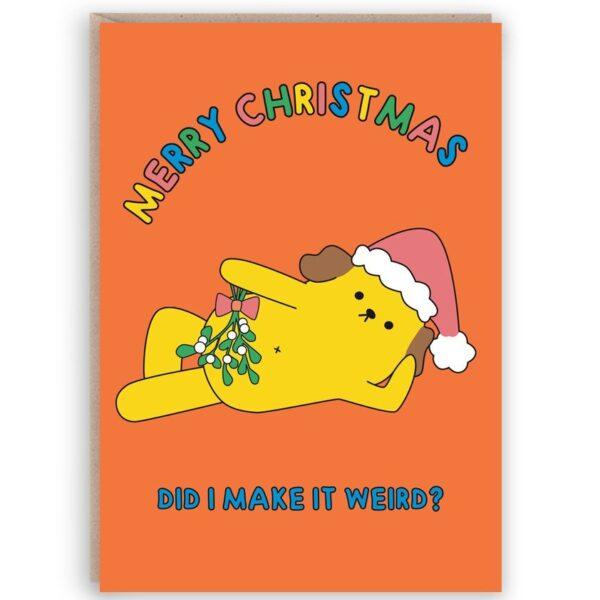 Sexy Dog Christmas Card