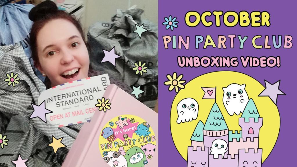 Pin Party Club subscription box unboxing video
