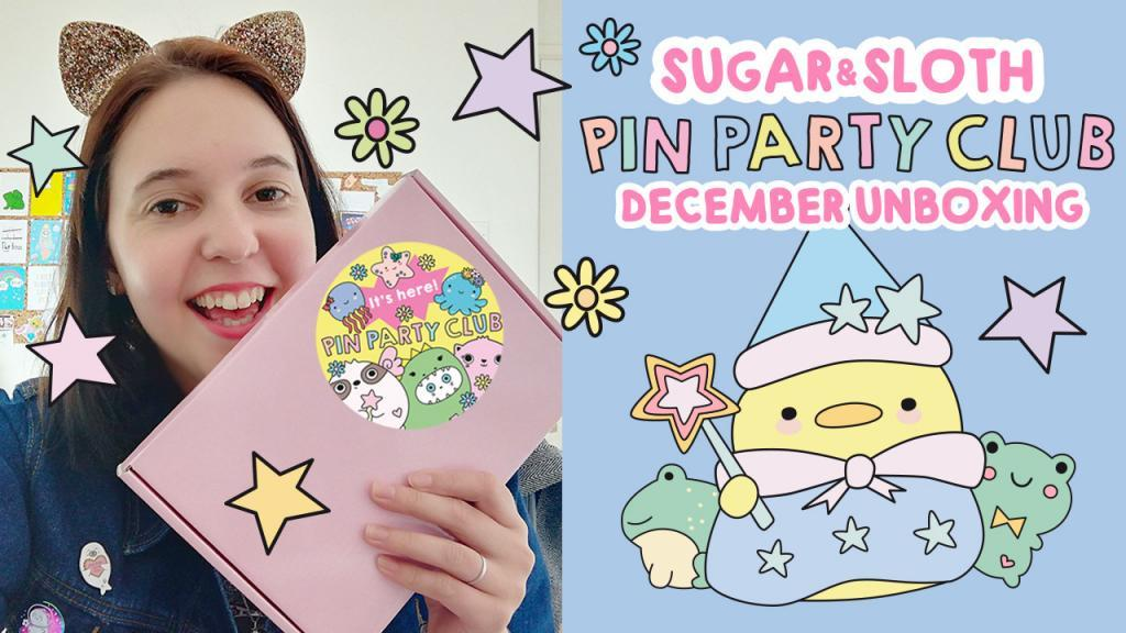December UNBOXING VIDEO pin party club youtube