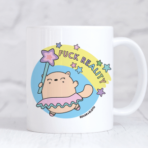 Funny swear cat mug reality