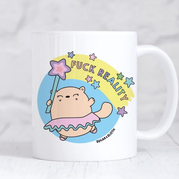 Funny swear cat mug reality
