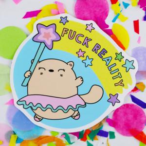 cute cat vinyl sticker