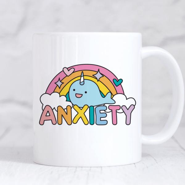 anxiety rainbow mug