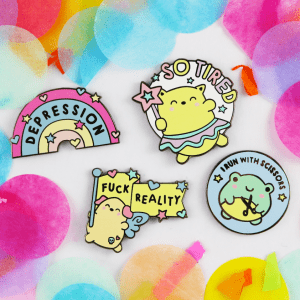 Feels enamel pin cute kawaii pin set