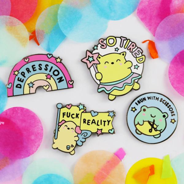 Feels enamel pin cute kawaii pin set