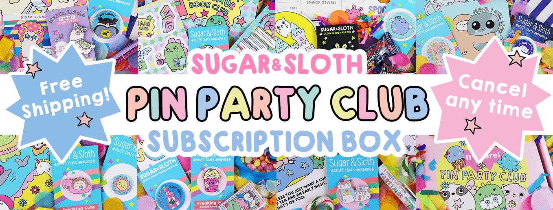 pin party club subscription box enamel pins