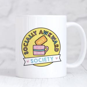 socially awkward society mug