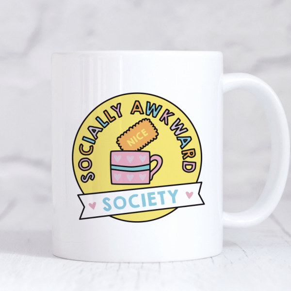 socially awkward society mug