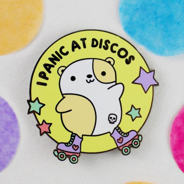 I panic at discos enamel pin