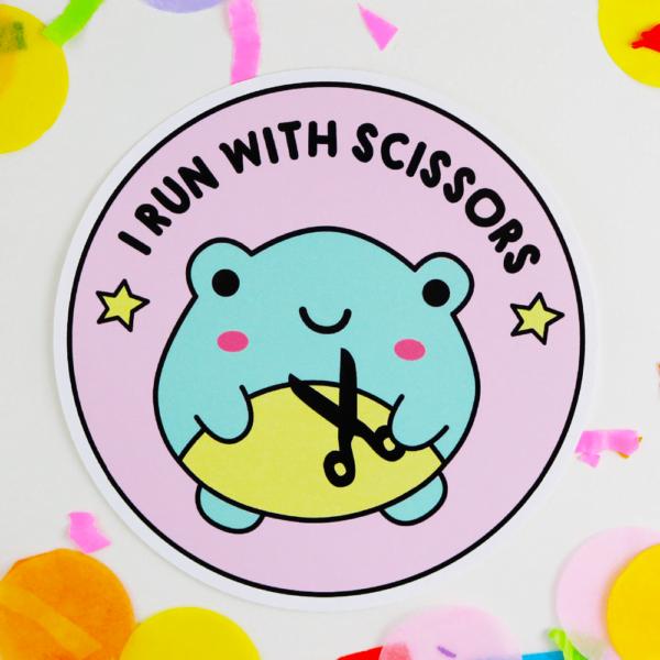 frog sticker vinyl funny