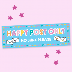 cute kawaii happy post letterbox sticker
