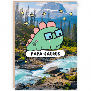 Papasaurus Dinosaur Card for Dad