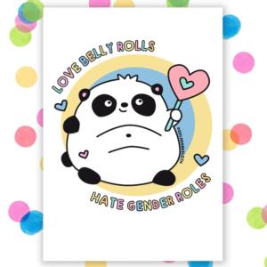 Self care positive body image postcard