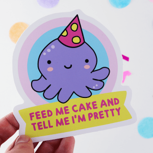 Funny cute vinyl sticker